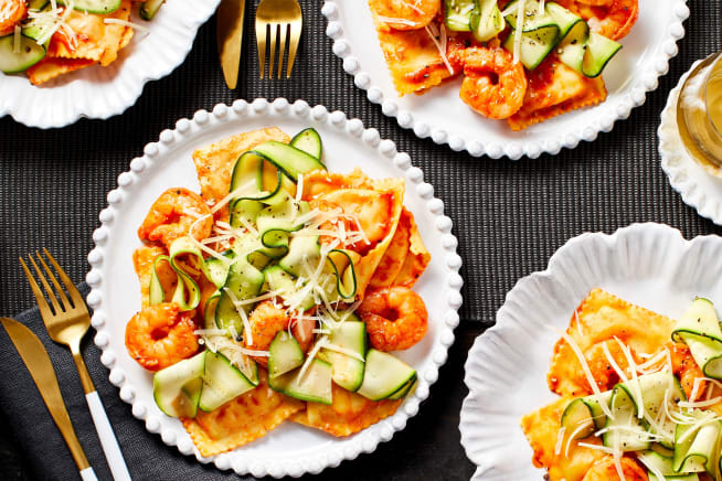 Family Friendly - Shrimp with Lobster Ravioli