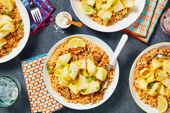 Family Friendly - One-Pan Chicken Sausage Orzo