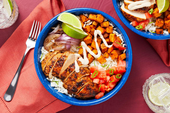 Family Friendly - Chipotle Chicken and Rice Bowl