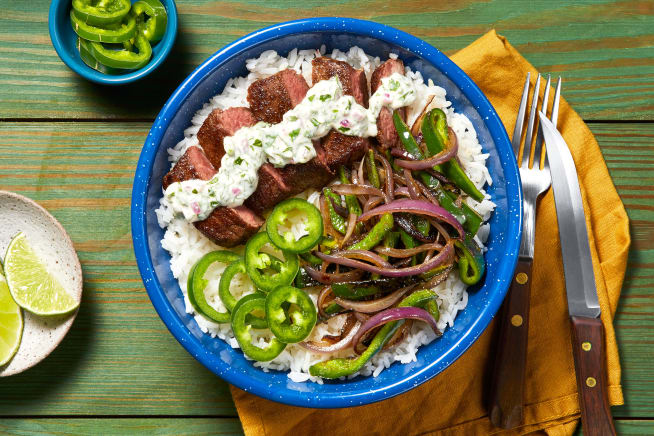 Quick meals - Creamy Cilantro Steak Bowl