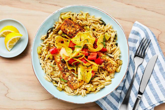 Quick meals - Tuscan Grilling Cheese and Lemony Orzo