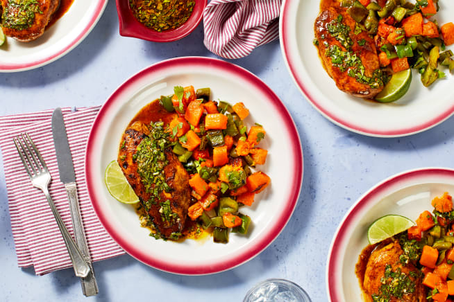 Family Friendly - Southwest Chicken with Cilantro Chimichurri
