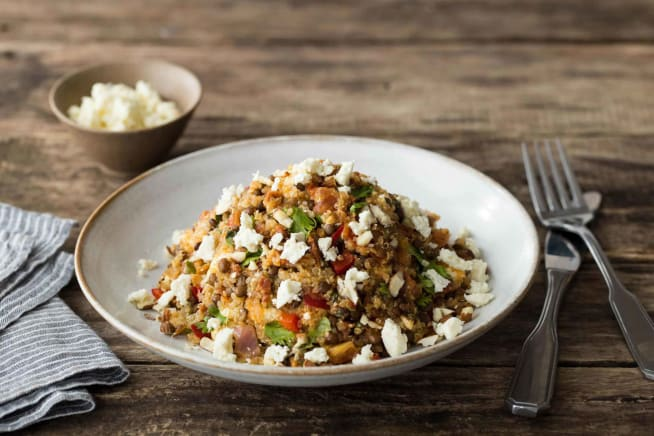Protein-Packed Chorizo, Quinoa and Almond Jumble