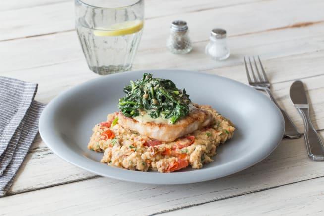 Low Carb Rezepte - Low Carb: Schweinsnierstück-Steaks mit Bohnen-Tomaten-Püree