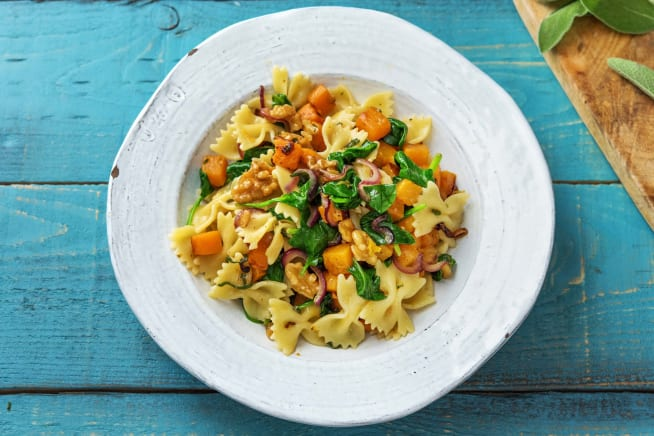 Vegetarian Recipes - Pumpkin, Sage & Brown Butter Farfalle