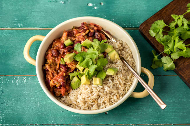 Vegetarian Recipes - Mexican Chilli Sin Carne Bowl
