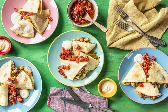 Hall Of Fame - Chicken Pineapple Quesadillas