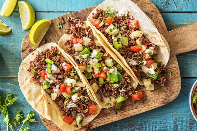 Hall Of Fame - Pineapple Poblano Beef Tacos