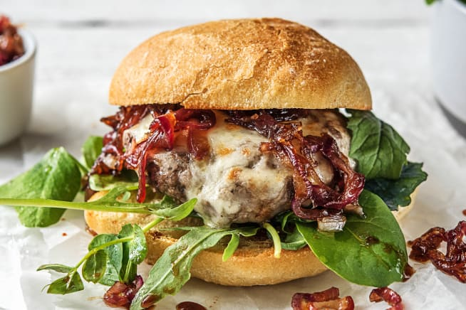 Quick meals - Melty Mozzarella Burgers