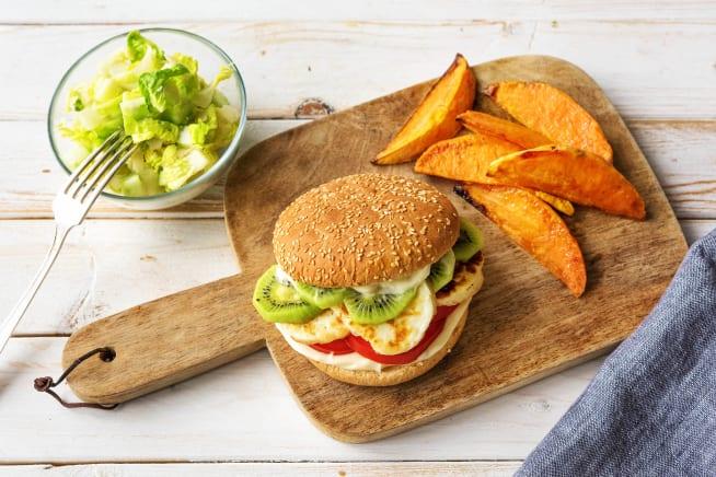 Schnelle Gerichte - Kiwi-Halloumi-Burger
