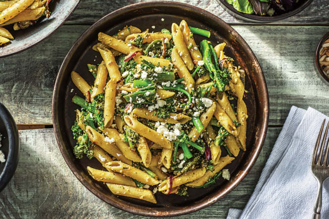 Vegetarian Recipes - (Vegetarian) Speedy Lemon Basil Pesto Penne