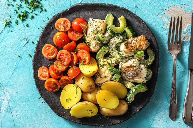 Caloriearme recepten - Schelvis met zelfgemaakte kruidenroomkaas