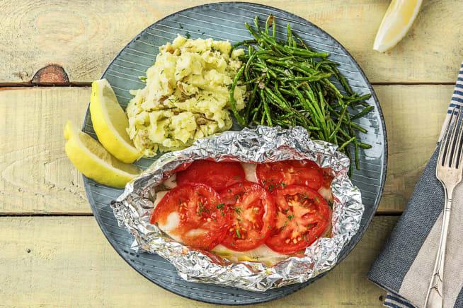 Snelle recepten - Vispakketje van schelvis met zeekraal