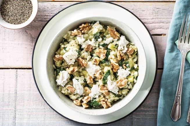 Oven-Baked Pesto Risotto
