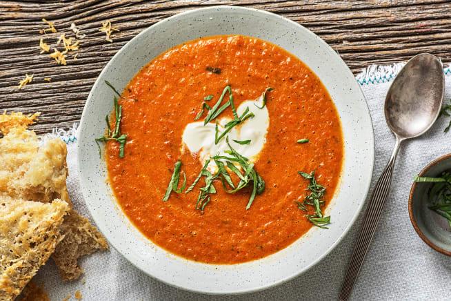 Vegetarische recepten - Geroosterde tomaat-paprikasoep