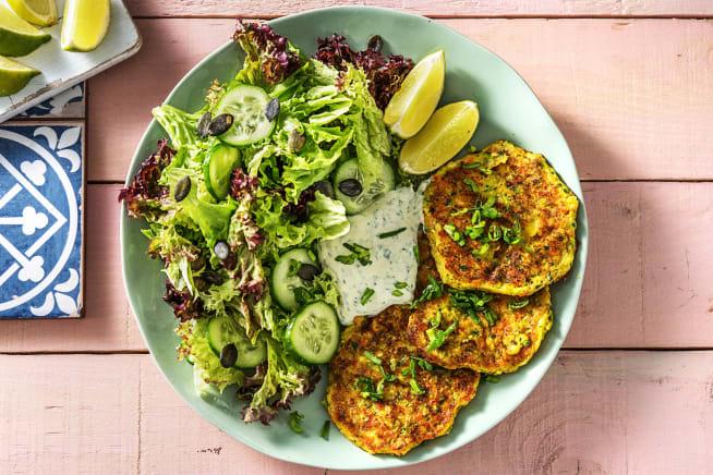 Vegetarische Gerichte - Zucchini-Käse-Puffer