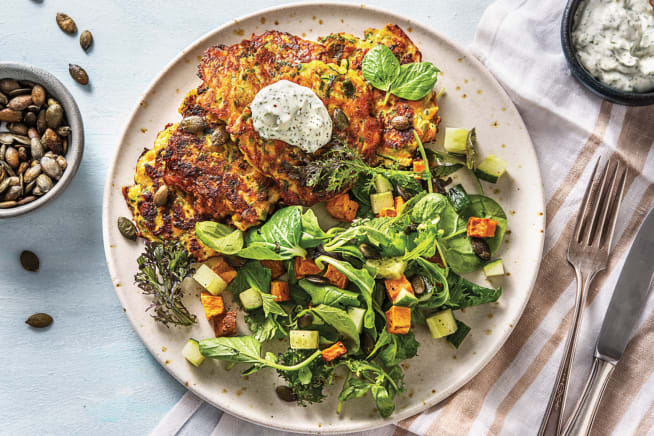 Vegetarian Recipes - Cheddar & Courgette Fritters