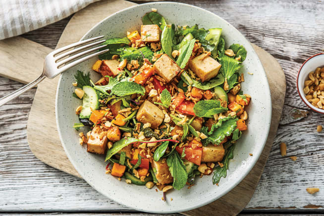 Vegetarian Recipes - Malaysian Tofu & Sweet Chilli Pumpkin Salad