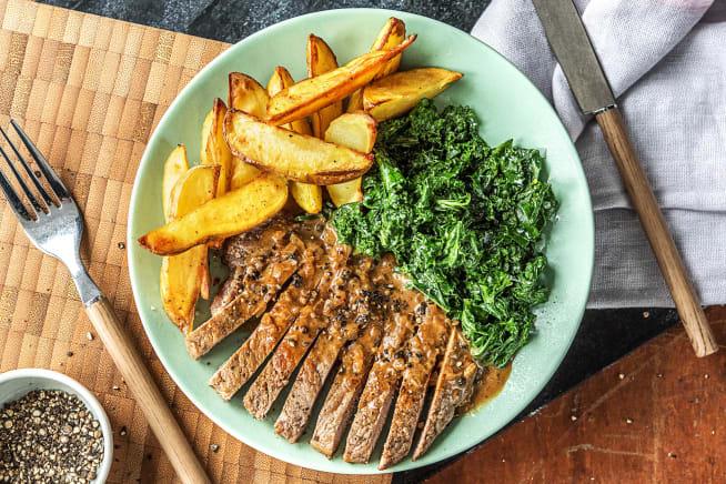 Crushed Peppercorn Steak