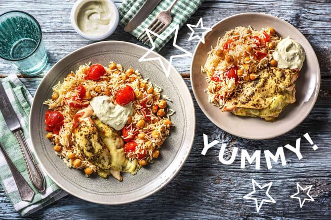 Gefüllte Hähnchenbrust mit Mozzarella
