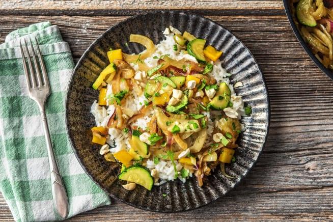 Vegetarische Gerichte - Knackige Gemüsepfanne mit Fenchel