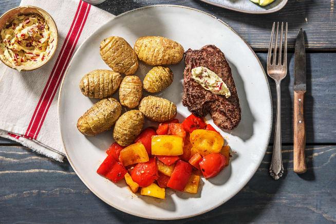 Gesunde Gerichte - Rindersteaks mit feuriger Limettenbutter