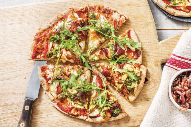 Quick Dinner Ideas - Double Cheese & Pesto Pizza