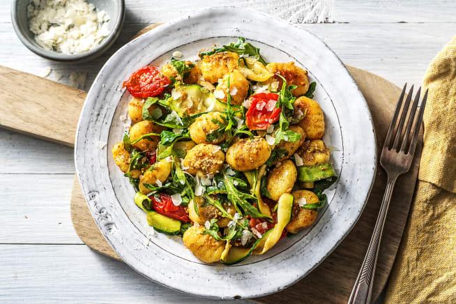 Recettes végétariennes - Gnocchi poêlés au pesto vert