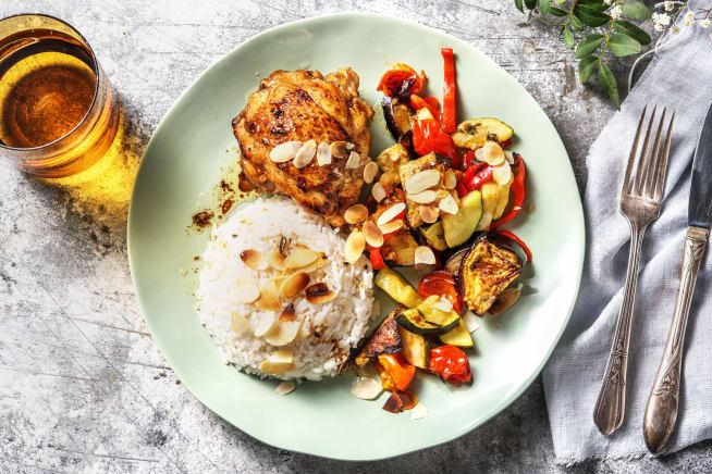 Recettes sans gluten - Cuisse de poulet et légumes rôtis