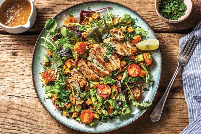 Low Calorie Meals - Thai-Style Chicken & Roast Sweet Potato Salad
