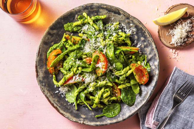 Gesunde Gerichte - Strozzapreti! Pasta mit Spinat-Pesto,