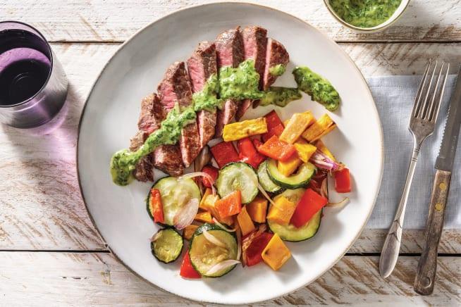 Low Calorie Meals - Argentinian Steak & Chimichurri