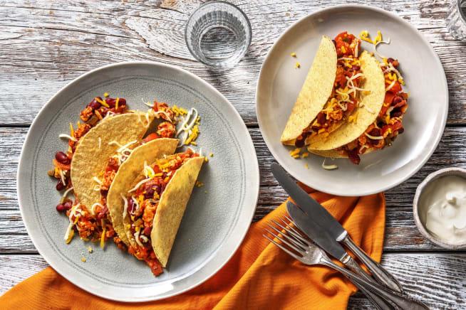 Recettes rapides - Tacos mexicains au poulet haché