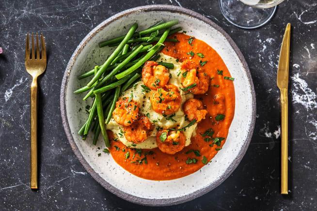 Recettes sans gluten - Crevettes à la sauce tomate maison
