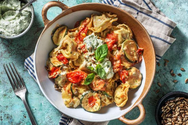 Schnelle Gerichte - Tortellini mit Ricotta Füllung