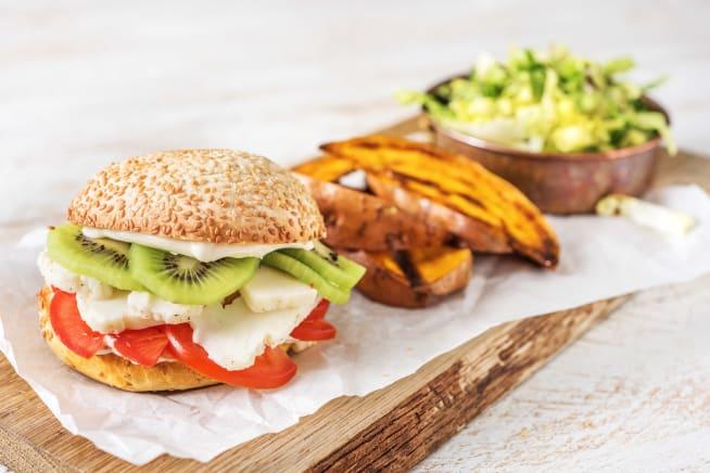 Thermomix Rezepte - Kiwi-Halloumi-Burger