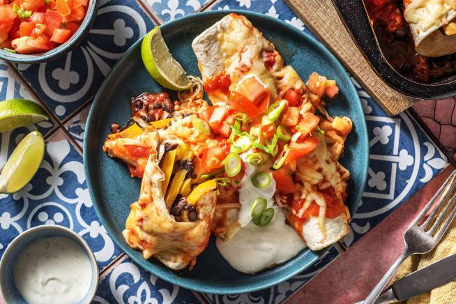 Thermomix Rezepte - Enchiladas mit rauchiger Tomatensoße,