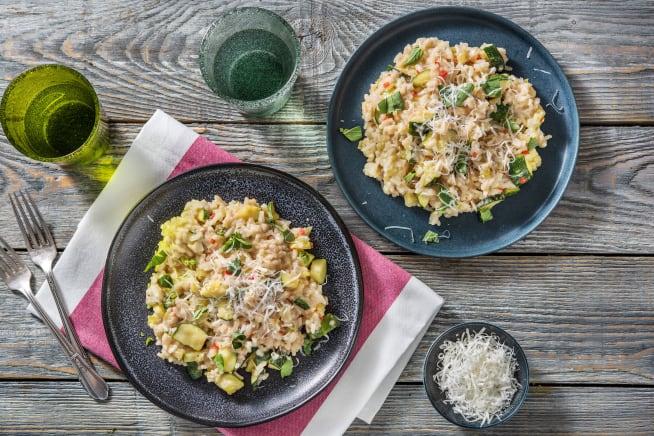 Recettes sans gluten - Risotto à la courgette et à la mozzarella
