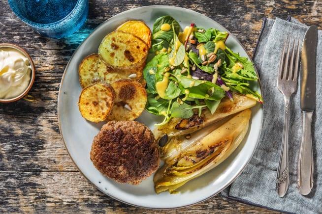 Recettes sans gluten - Steak haché et endives caramélisées