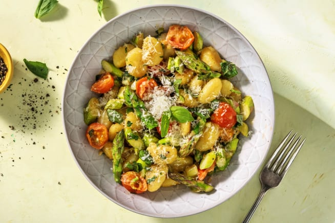 Gnocchi-Pfanne mit grünem Spargel
