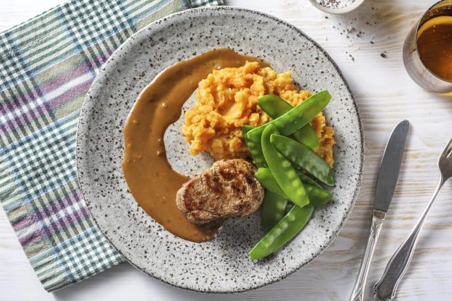 Recettes sans gluten - Filet mignon et purée aux carottes