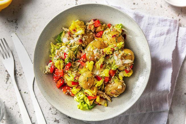 Recettes rapides - Salade de pommes de terre et truite fumée