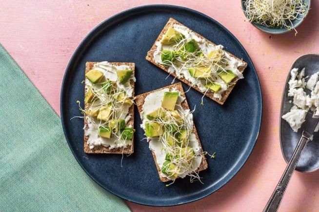 Recettes rapides - Crackers au fromage de chèvre frais