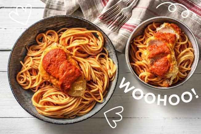 Thermomix Rezepte - Überbackene Hähnchenbrust Parmigiana
