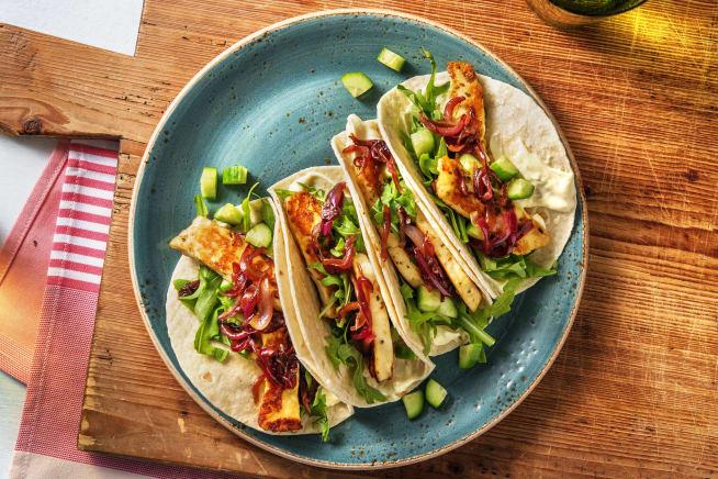 Schnelle Gerichte - Würzig-feurige Halloumi-Tacos