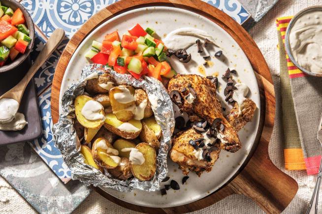 Recettes sans gluten - Pilons de poulet marinés et pommes de terre rôties