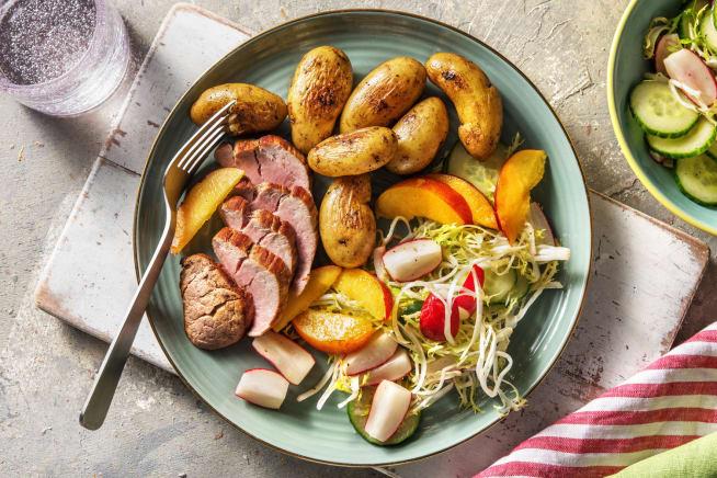 Recettes sans gluten - Filet mignon et salade d'été
