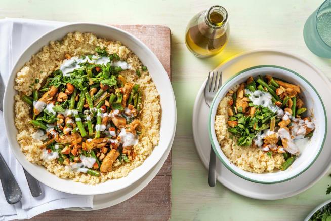 Recettes rapides - Curry au poulet et aux haricots verts