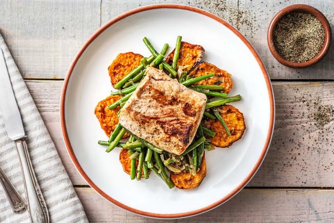 Gesunde Gerichte - Schweinefilets mit Honig-Thymian-Soße