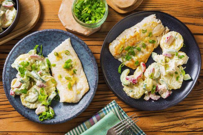 Gesunde Gerichte - Zitroniges Fischfilet